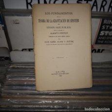 Libros antiguos: LOS FUNDAMENTOS DE LA TEORÍA DE LA GRAVITACIÓN DE EINSTEIN,FREUNDLICH,1920. Lote 194620515