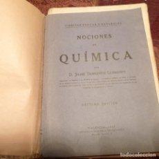 Libros antiguos: NOCIONES DE QUÍMICA. D. JAIME DOMENECH LLOMPART. AÑO 1933 SÉPTIMA EDICIÓN. 300 PAGS.. Lote 194782822