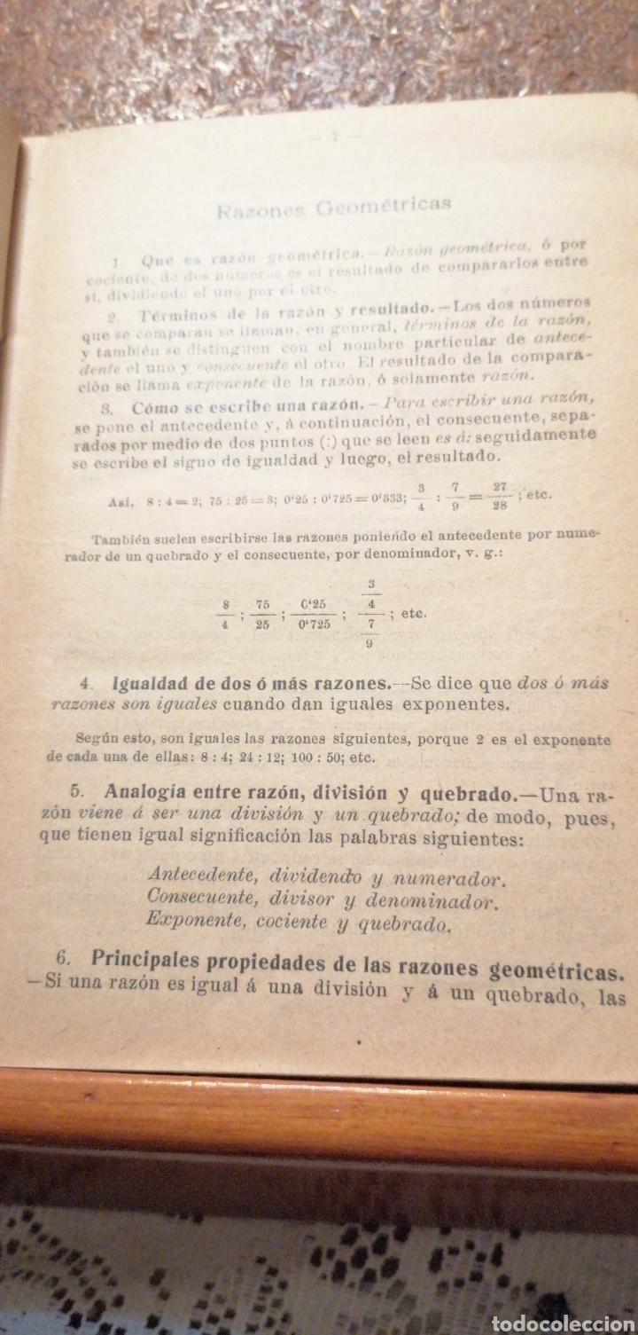 Libros antiguos: ANTIGUO LIBRO DEL 1911 LECCIONES DE ARITMÉTICA 2°PARTE - Foto 5 - 195225557