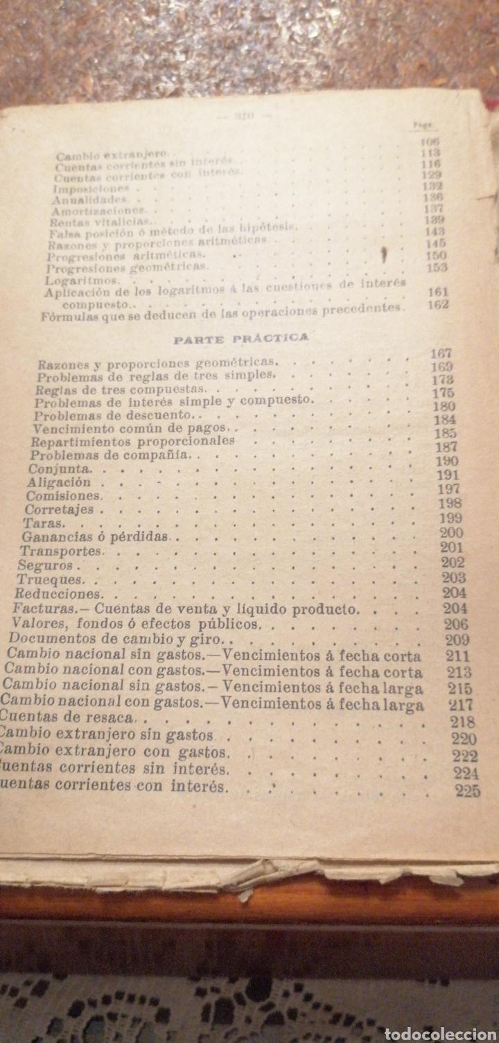 Libros antiguos: ANTIGUO LIBRO DEL 1911 LECCIONES DE ARITMÉTICA 2°PARTE - Foto 8 - 195225557