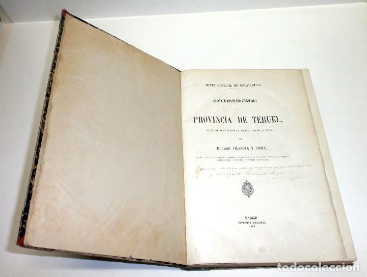 Libros antiguos: VILANOVA Y PIERA, Juan. Ensayo de Descripción Geognóstica de la Provincia de Teruel... 1863. - Foto 3 - 195280491
