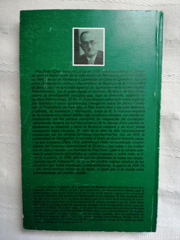 Libros antiguos: Iniciación a la botánica morfologia externa Pius Font I Quer Edición actualizada por Oriol De Bolòs - Foto 2 - 195301748