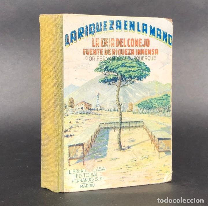 LA RIQUEZA EN LA MANO - LA CRIA DEL CONEJO FUENTE DE RIQUEZA INMENSA (Libros Antiguos, Raros y Curiosos - Ciencias, Manuales y Oficios - Bilogía y Botánica)