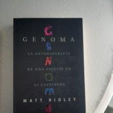 Libros antiguos: GENOMA DE MATT RIDLEY. Lote 195355928