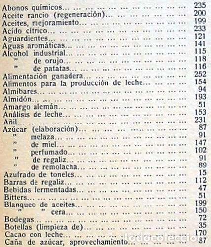 Libros antiguos: FORMULARIO PRÁCTICO DE AGRICULTURA Y SUS INDUSTRIAS - 2 TOMOS - J. POCH NOGUER 1929 - VER INDICES - Foto 4 - 195365765
