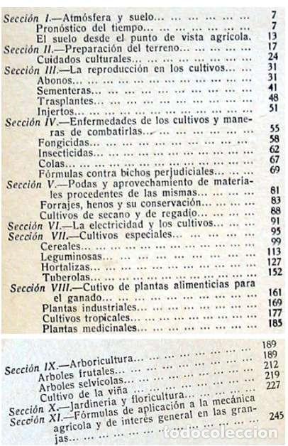 Libros antiguos: FORMULARIO PRÁCTICO DE AGRICULTURA Y SUS INDUSTRIAS - 2 TOMOS - J. POCH NOGUER 1929 - VER INDICES - Foto 9 - 195365765