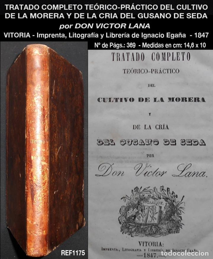 PCBROS - CULTIVO DE LA MORERA Y CRÍA GUSANO SEDA- VICTOR LANA -1847 IMP. LIT. EGAÑA - VITORIA (Libros Antiguos, Raros y Curiosos - Ciencias, Manuales y Oficios - Bilogía y Botánica)