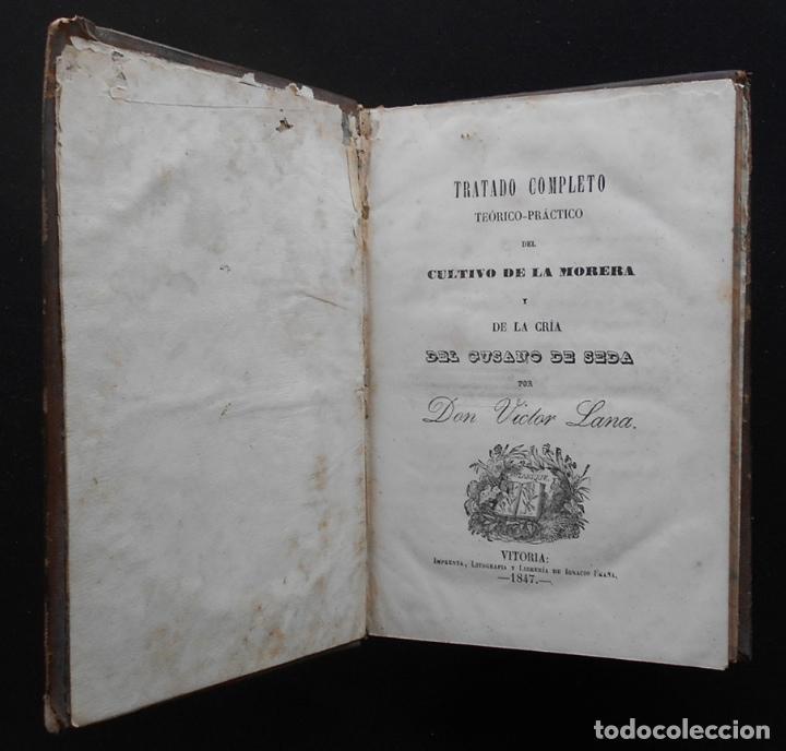 Libros antiguos: PCBROS - CULTIVO DE LA MORERA Y CRÍA GUSANO SEDA- VICTOR LANA -1847 IMP. LIT. EGAÑA - VITORIA - Foto 3 - 195385643