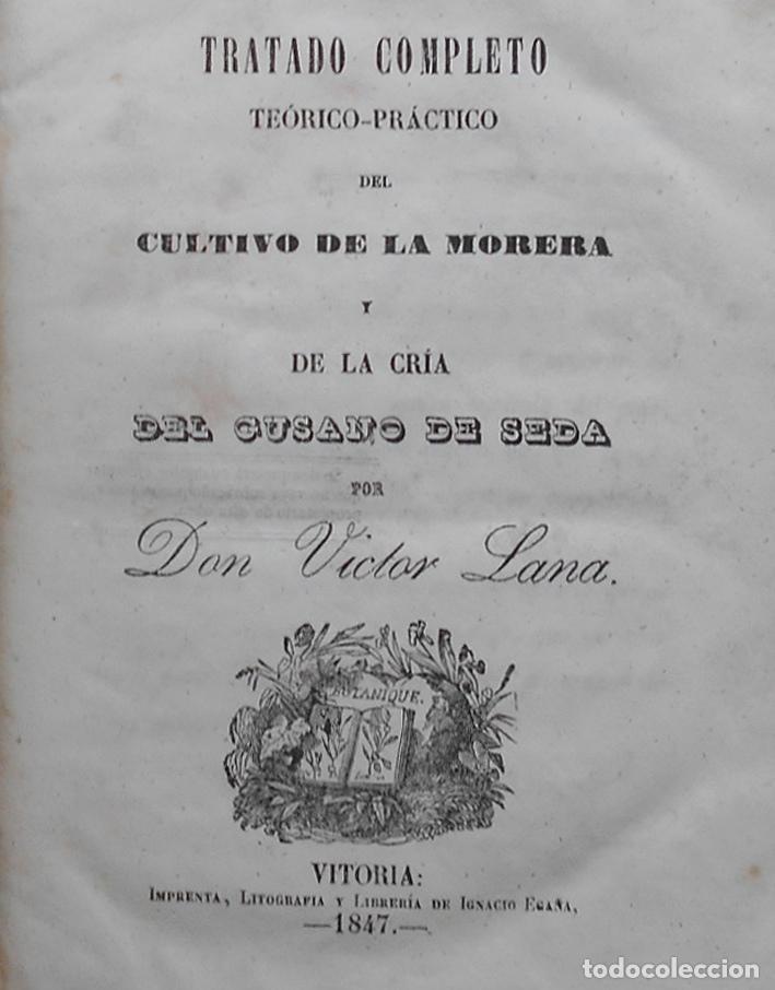 Libros antiguos: PCBROS - CULTIVO DE LA MORERA Y CRÍA GUSANO SEDA- VICTOR LANA -1847 IMP. LIT. EGAÑA - VITORIA - Foto 4 - 195385643