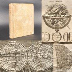 Libros antiguos: 1800 PHILOSOPHIA THOMISTICA - PERGAMINO - LUNA - MAPA MUNDI - ASTRONOMIA - GRABADOS - ESFERA AMILAR. Lote 195392556