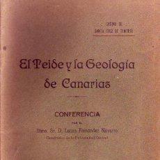 Libros antiguos: TENERIFE - EL TEIDE Y LA GEOLOGIA DE CANARIAS 1917. Lote 195446105