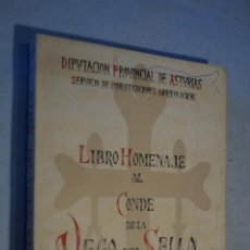 Libros antiguos: LIBRO HOMENAJE AL CONDE DE LA VEGA DEL SELLA. SERVICIO DE INVESTIGACIONES ARQUEOLOGICAS. 1961. Lote 195843875