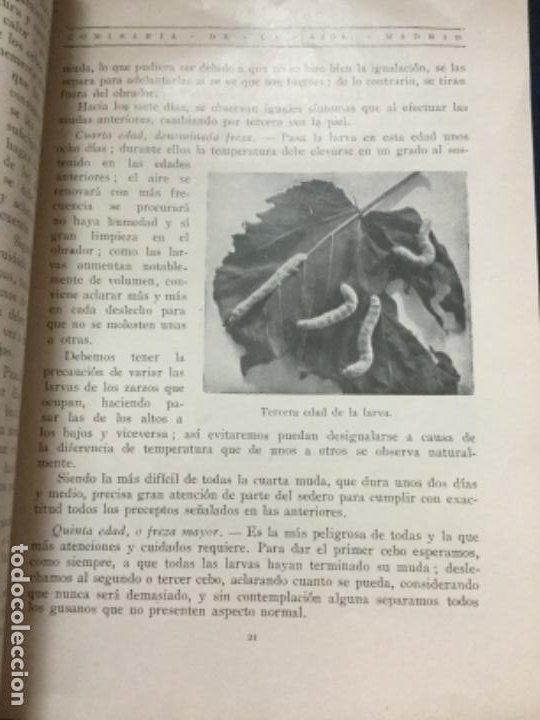 Libros antiguos: LA CRIANZA DEL GUSANO DE LA SEDA - FELIPE GONZALEZ MARIN - SEGUNDA EDICION 1929 - 40p. 22x16- - Foto 2 - 196161103