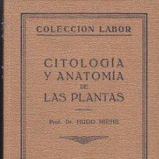 Libros antiguos: LIBRO CITOLOGIA Y ANATOMIA DE LAS PLANTAS EDITORIAL LABOR 1928. Lote 196963008