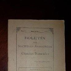 Libros antiguos: BOLETÍN DE LA SOCIEDAD ARAGONESA DE CIENCIAS NATURALES - TOMO II - Nº 1 - 1903. Lote 197484936