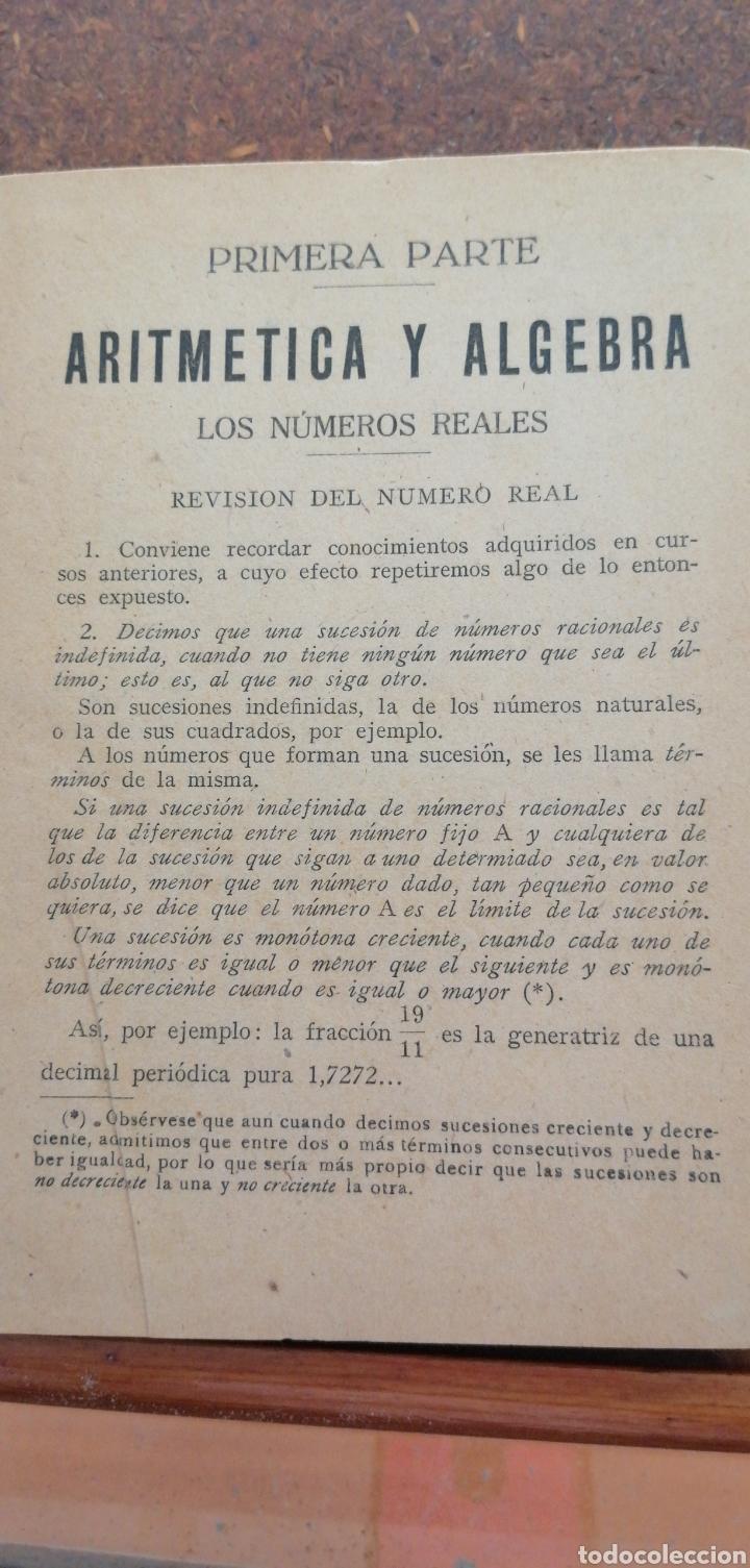 Libros antiguos: MATEMÁTICAS SEXTO CURSO DE BACHILLERATO - Foto 3 - 197639032