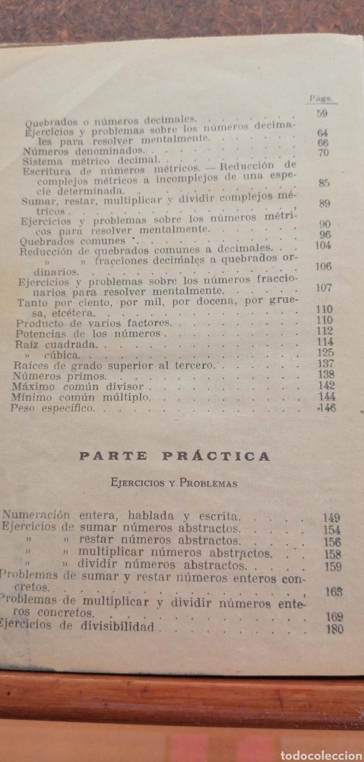 Libros antiguos: LECCIONES DE ARITMÉTICA GRADO SUPERIOR AÑO 1922 - Foto 6 - 197639502