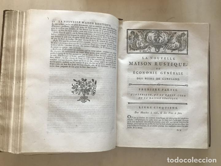 Libros antiguos: La nouvelle Maison rustique..., 2 tomos (IyII), 1790. L. Liger. Posee 41grabados y figuras - Foto 15 - 198399371