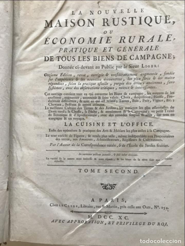 Libros antiguos: La nouvelle Maison rustique..., 2 tomos (IyII), 1790. L. Liger. Posee 41grabados y figuras - Foto 32 - 198399371