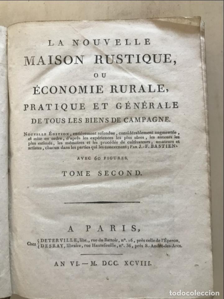 Libros antiguos: LA NOUVELLE MAISON RUSTIQUE ..Tomo II, 1798. J-F- Bastien. Posee 18 grabados. - Foto 7 - 198405088