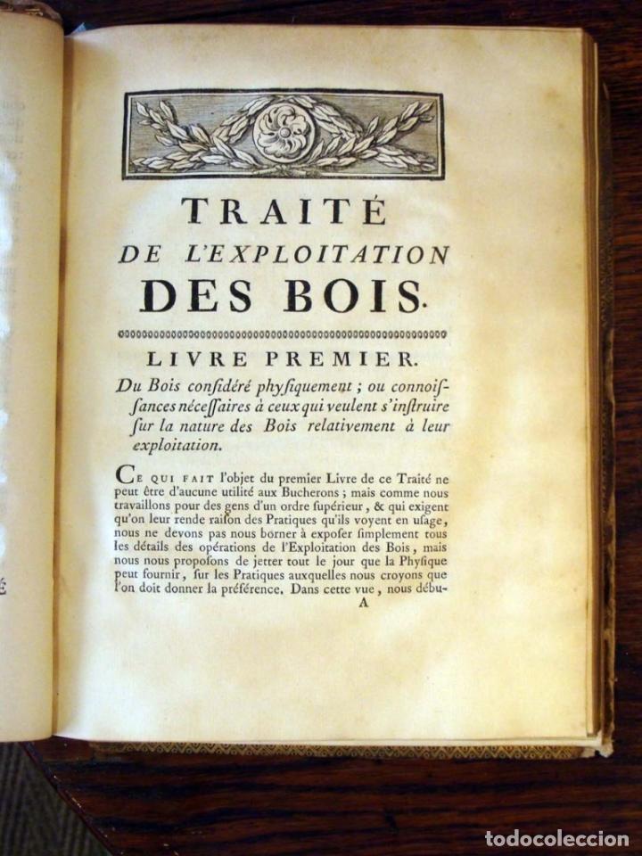 Libros antiguos: De l exploitation des bois, ou moyens..., Tomo I y II , 1764. Duhamel du Monceau. Posee 36 grabados - Foto 3 - 198416221