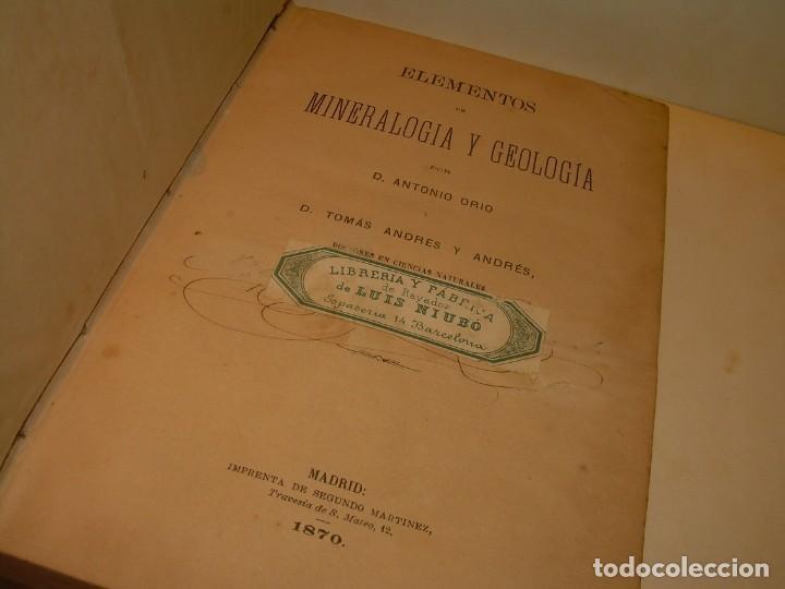 Libros antiguos: LIBRO TAPAS DE PIEL MINERALOGIA Y GEOLOGIA......AÑO.1870.....CON ILUSTRACIONES. - Foto 5 - 198734807