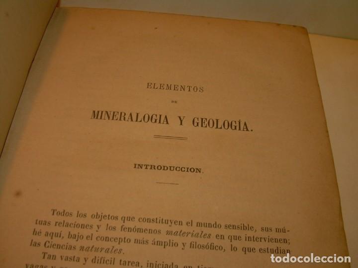 Libros antiguos: LIBRO TAPAS DE PIEL MINERALOGIA Y GEOLOGIA......AÑO.1870.....CON ILUSTRACIONES. - Foto 6 - 198734807