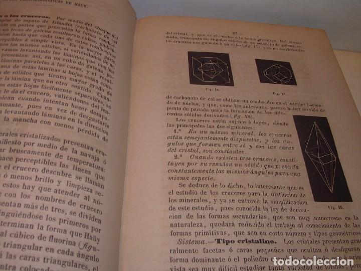 Libros antiguos: LIBRO TAPAS DE PIEL MINERALOGIA Y GEOLOGIA......AÑO.1870.....CON ILUSTRACIONES. - Foto 8 - 198734807