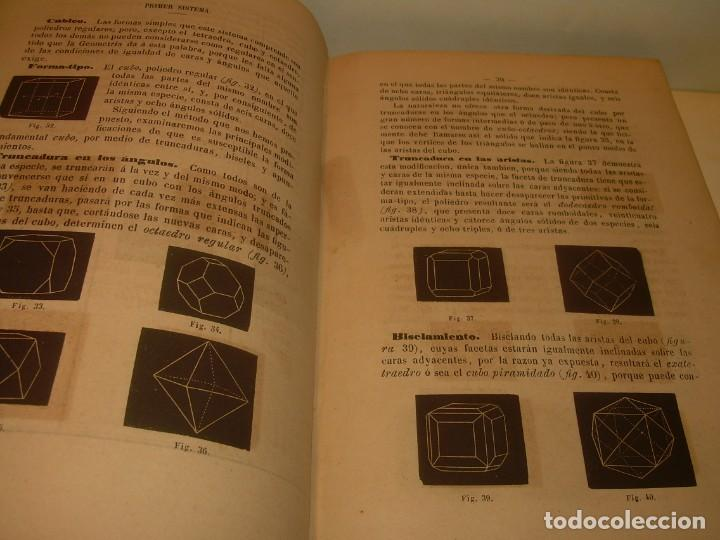 Libros antiguos: LIBRO TAPAS DE PIEL MINERALOGIA Y GEOLOGIA......AÑO.1870.....CON ILUSTRACIONES. - Foto 10 - 198734807