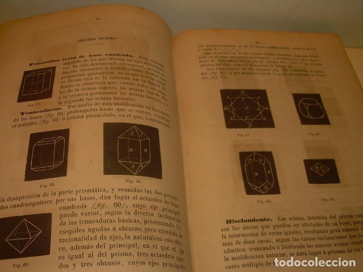 Libros antiguos: LIBRO TAPAS DE PIEL MINERALOGIA Y GEOLOGIA......AÑO.1870.....CON ILUSTRACIONES. - Foto 11 - 198734807