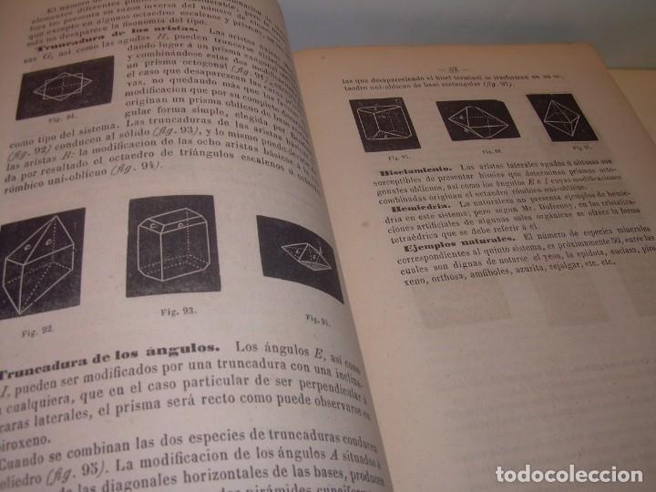 Libros antiguos: LIBRO TAPAS DE PIEL MINERALOGIA Y GEOLOGIA......AÑO.1870.....CON ILUSTRACIONES. - Foto 12 - 198734807