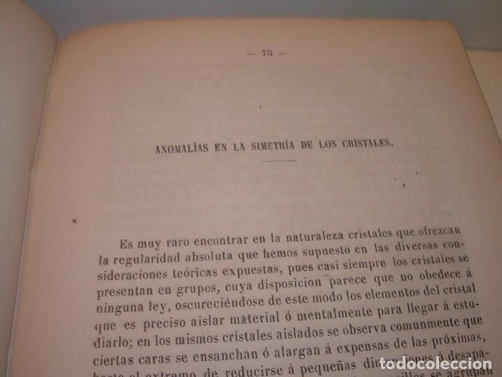 Libros antiguos: LIBRO TAPAS DE PIEL MINERALOGIA Y GEOLOGIA......AÑO.1870.....CON ILUSTRACIONES. - Foto 16 - 198734807