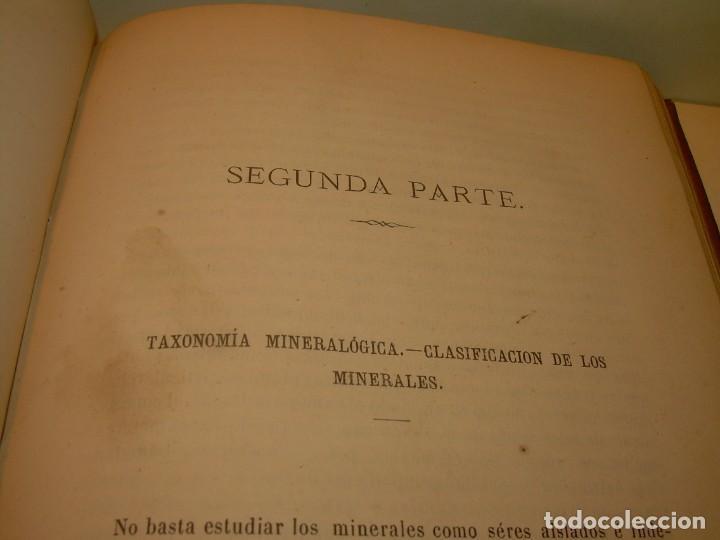 Libros antiguos: LIBRO TAPAS DE PIEL MINERALOGIA Y GEOLOGIA......AÑO.1870.....CON ILUSTRACIONES. - Foto 17 - 198734807
