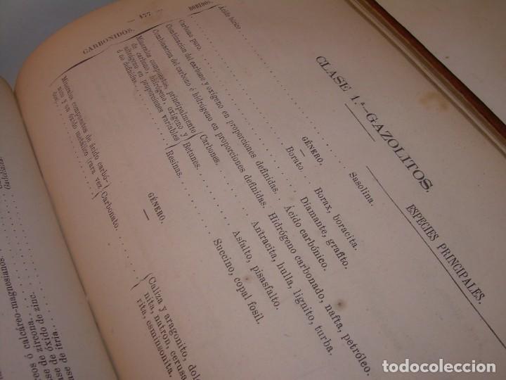 Libros antiguos: LIBRO TAPAS DE PIEL MINERALOGIA Y GEOLOGIA......AÑO.1870.....CON ILUSTRACIONES. - Foto 21 - 198734807