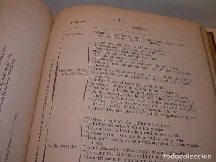 Libros antiguos: LIBRO TAPAS DE PIEL MINERALOGIA Y GEOLOGIA......AÑO.1870.....CON ILUSTRACIONES. - Foto 22 - 198734807