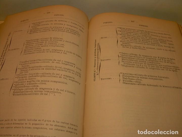 Libros antiguos: LIBRO TAPAS DE PIEL MINERALOGIA Y GEOLOGIA......AÑO.1870.....CON ILUSTRACIONES. - Foto 23 - 198734807