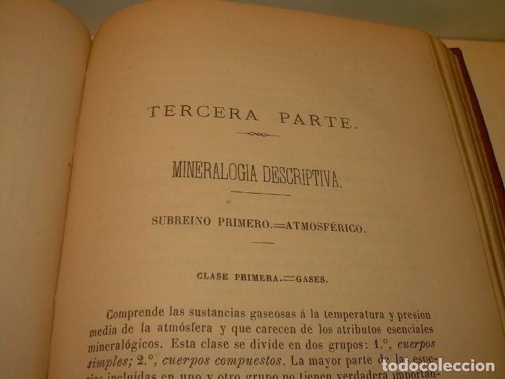 Libros antiguos: LIBRO TAPAS DE PIEL MINERALOGIA Y GEOLOGIA......AÑO.1870.....CON ILUSTRACIONES. - Foto 27 - 198734807