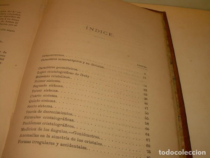 Libros antiguos: LIBRO TAPAS DE PIEL MINERALOGIA Y GEOLOGIA......AÑO.1870.....CON ILUSTRACIONES. - Foto 29 - 198734807