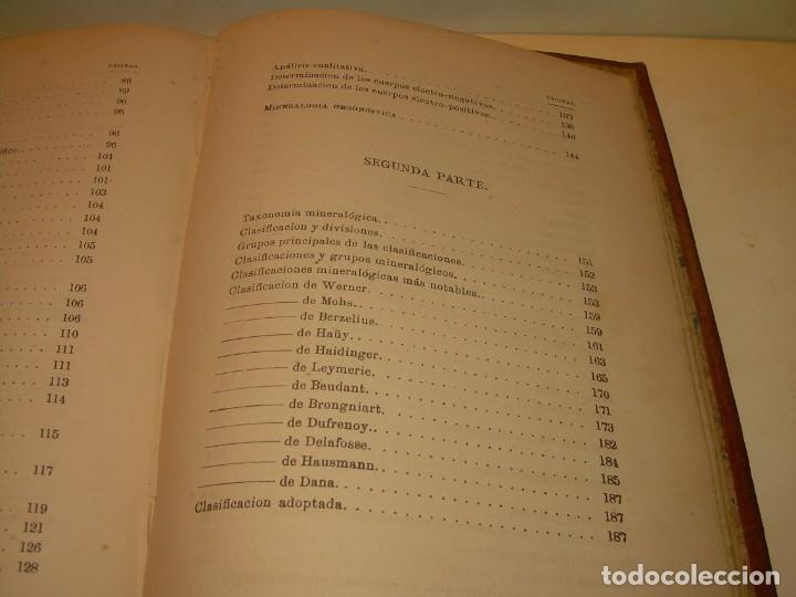 Libros antiguos: LIBRO TAPAS DE PIEL MINERALOGIA Y GEOLOGIA......AÑO.1870.....CON ILUSTRACIONES. - Foto 31 - 198734807