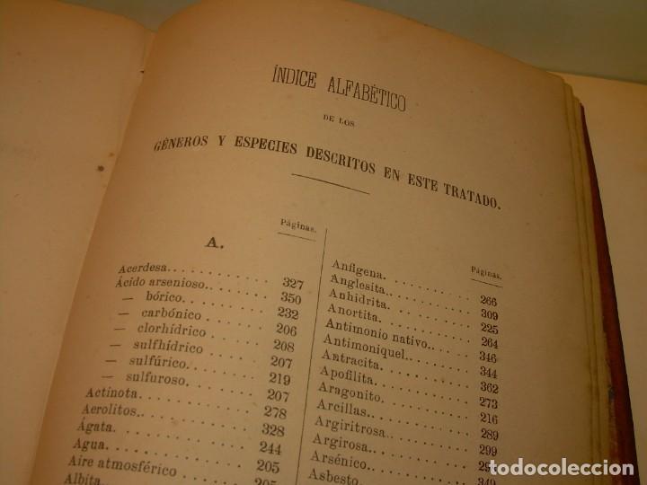 Libros antiguos: LIBRO TAPAS DE PIEL MINERALOGIA Y GEOLOGIA......AÑO.1870.....CON ILUSTRACIONES. - Foto 34 - 198734807
