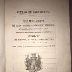 Libros antiguos: CUERPO DE INGENIEROS - 1853. Lote 198861095