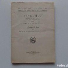 Libros antiguos: LIBRERIA GHOTICA. ACADEMIA DE CIENCIAS EXACTAS,FÍSICAS Y NATURALES.DISCURSO DE JOSÉ BALTÁ.1950.. Lote 198897288