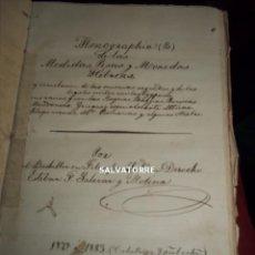 Libros antiguos: ESTEBAN F.SALAZAR Y MOLINA.1883-1884.MONOGRAFIA D LAS MEDIDAS,PESAS MONEDAS HEBREAS,OROTAVA.TENERIFE. Lote 199176136
