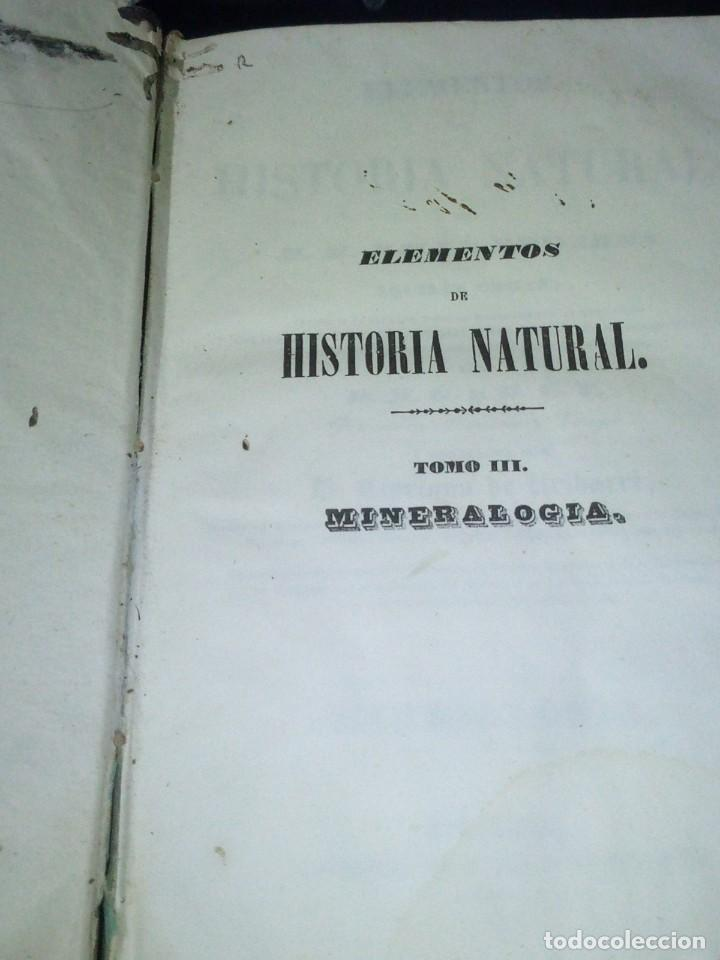 Libros antiguos: ~~~~ ELEMENTOS DE HISTORIA NATURAL, MINERALOGIA, MILNE EDWARDS.1846 IMPRENTA JOAQUIN VERDAGUER ~~~~ - Foto 2 - 199520865