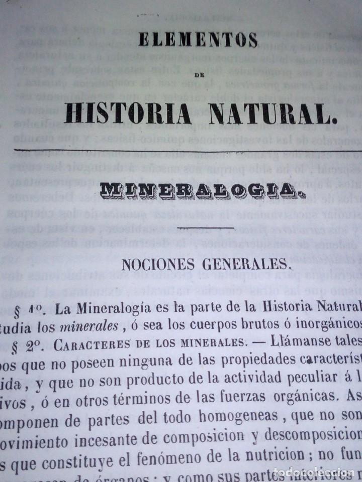 Libros antiguos: ~~~~ ELEMENTOS DE HISTORIA NATURAL, MINERALOGIA, MILNE EDWARDS.1846 IMPRENTA JOAQUIN VERDAGUER ~~~~ - Foto 5 - 199520865