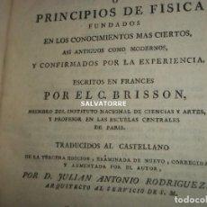Libros antiguos: TRATADO ELEMENTAL O PRINCIPIOS DE FISICA. BRISSON,TOMOS II.III.IV.1803.TODAS LAS LAMINAS. Lote 200083322