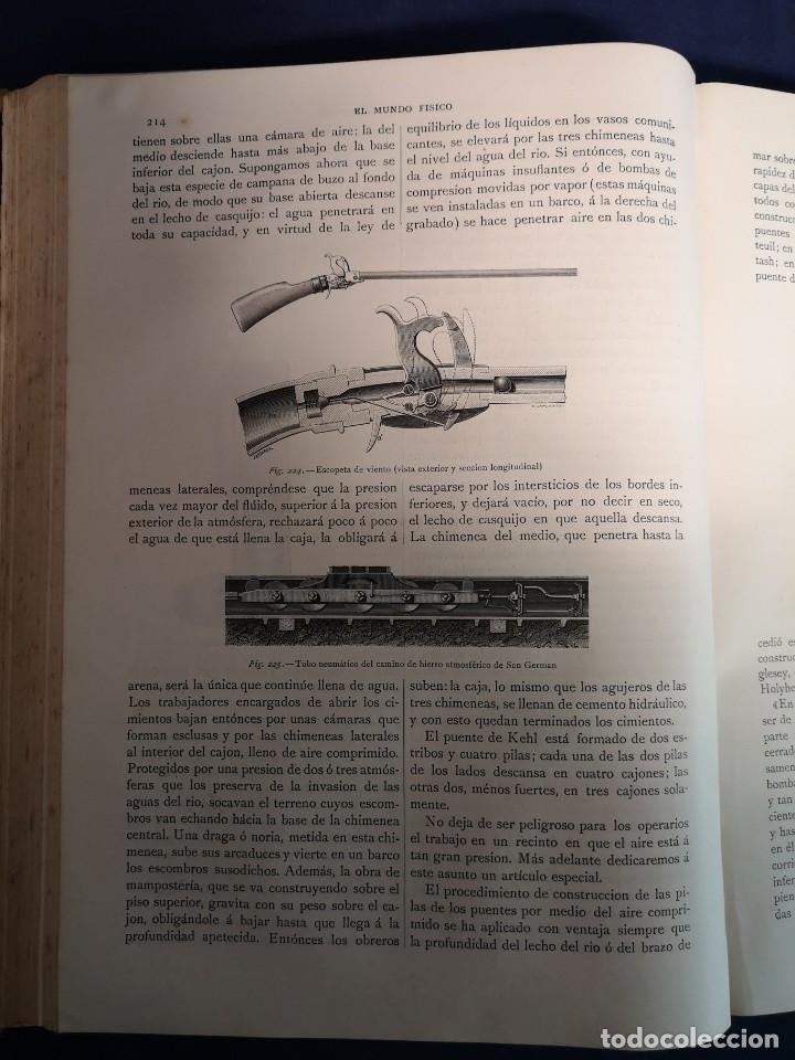 Libros antiguos: EL MUNDO FISICO.EDITORIAL MONTANER Y SIMON 1882 - Foto 3 - 200282402