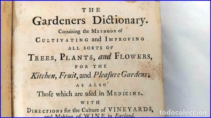 Libros antiguos: AÑO 1754: DICCIONARIO DE LOS JARDINEROS: ÁRBOLES, FLORES, PLANTAS...LONDRES. - Foto 3 - 200296106