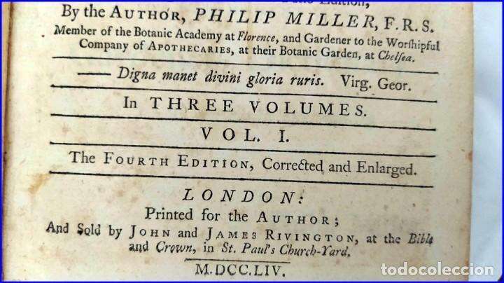 Libros antiguos: AÑO 1754: DICCIONARIO DE LOS JARDINEROS: ÁRBOLES, FLORES, PLANTAS...LONDRES. - Foto 4 - 200296106