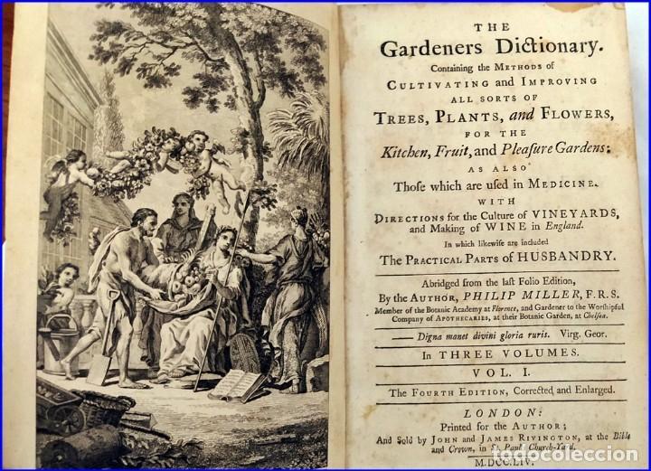 Libros antiguos: AÑO 1754: DICCIONARIO DE LOS JARDINEROS: ÁRBOLES, FLORES, PLANTAS...LONDRES. - Foto 6 - 200296106